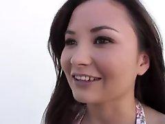Cute girl Kia taking a big thick cock