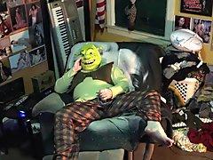 Shrek jerks off don't tell donkey