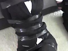 Chinese tape bondage & gagged